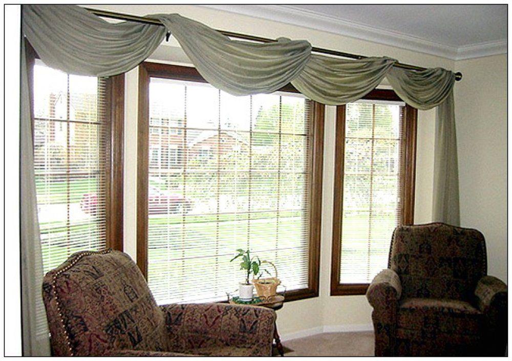 Extra Large Window Treatments Window Treatments Living Room Bay