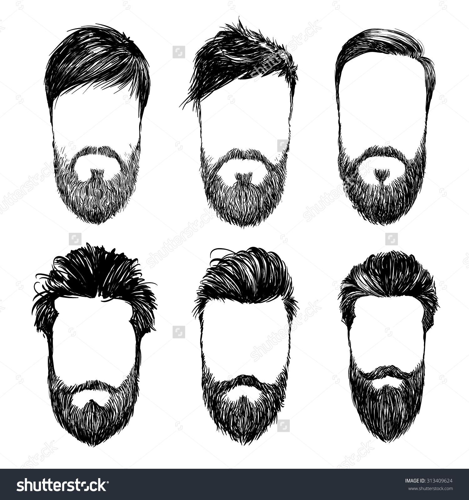 Image result for guy hair vector   Fashion Illustration ...