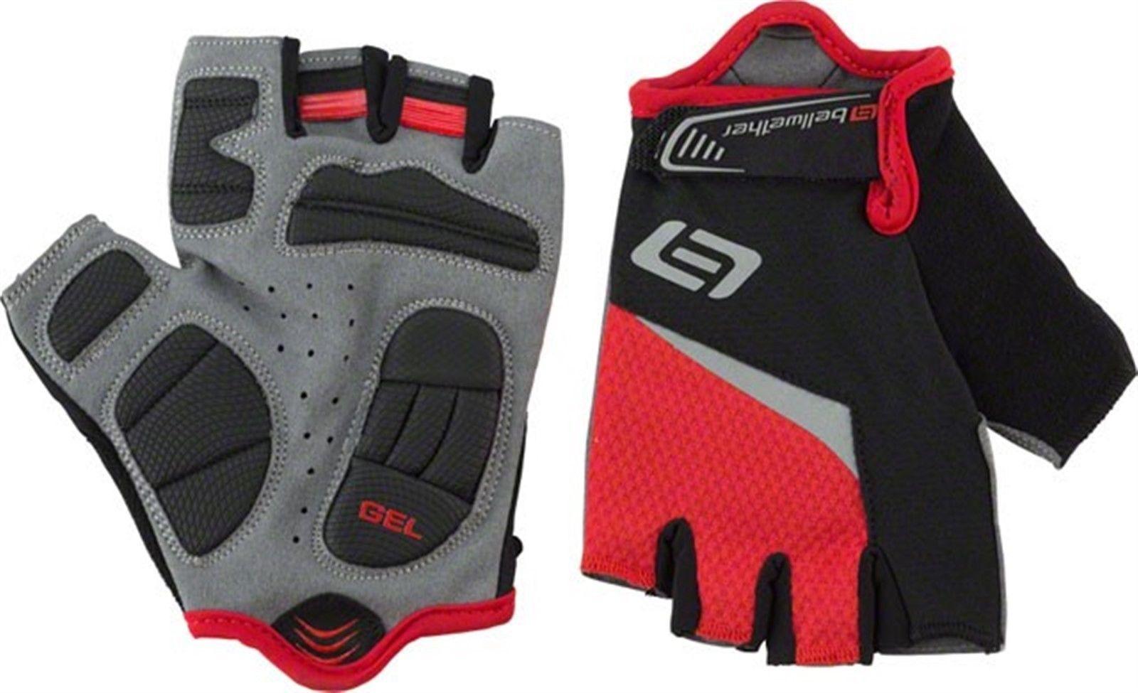 Gloves bellwether ergo gel men s short finger glove ferrari