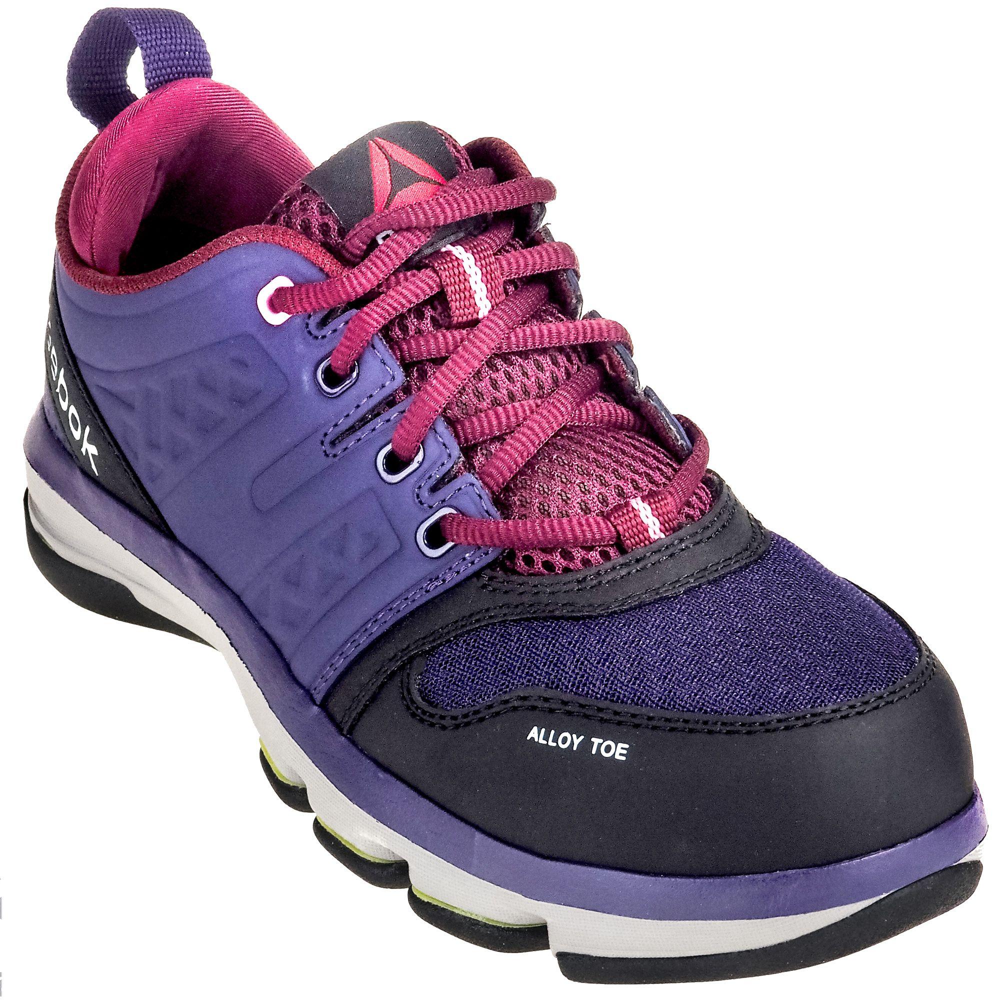 c76622709581 Reebok Women s RB360 Purple Alloy Toe ESD DMX Flex Athletic Work Shoes