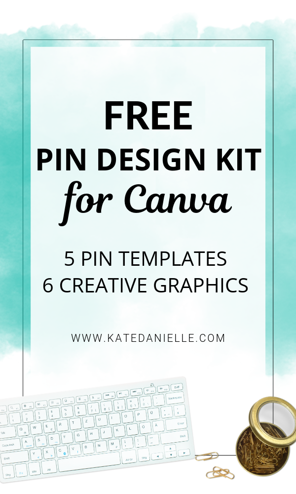 Get 5 Free Pin Templates for Canva  Create awesome Pinterest