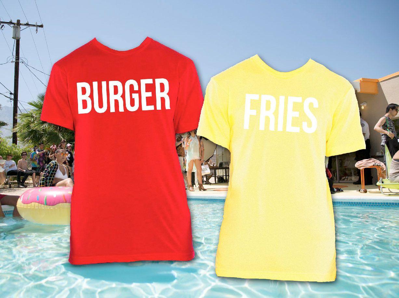 Burger and fries bff tees burger fries tshirts best