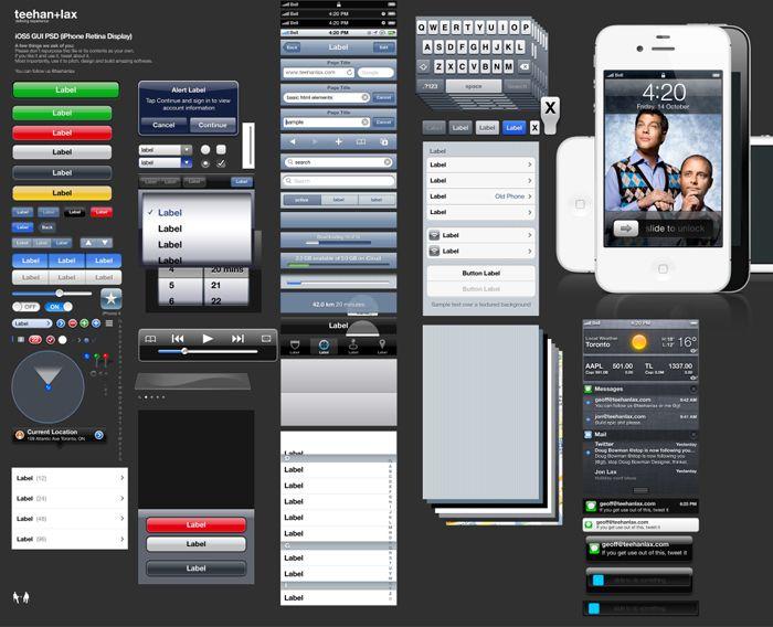 Plantilla de iOS 5 en Photoshop. Es fácil crear maquetas de ...