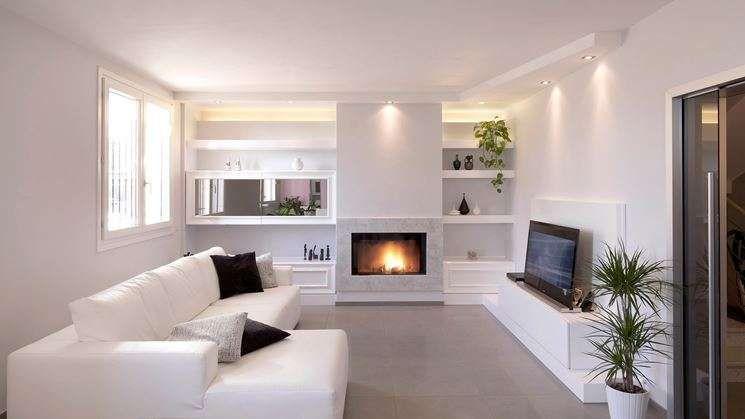 Idee pareti soggiorno in cartongesso - Soggiorno accogliente ...