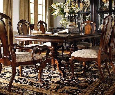 Thomasville 'hemingway' Pedestal Dining Table  Dining Room Sets Simple Thomasville Dining Room Table Design Inspiration