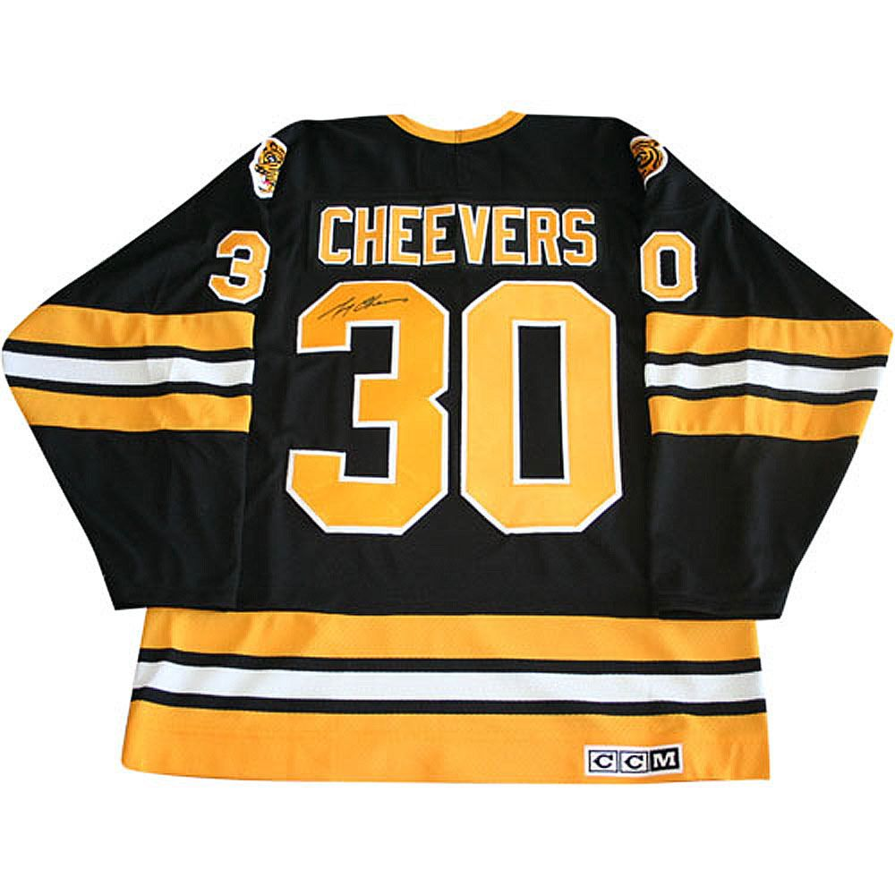 Gerry Cheevers Autographed Boston Bruins Jersey