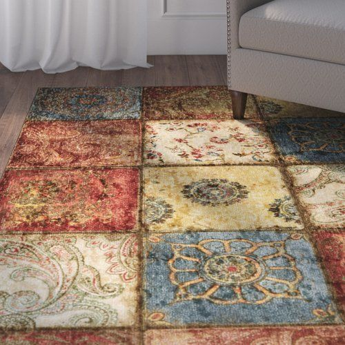 Aftonshire Rust Red Blue Area Rug Products Rugs Area Rugs