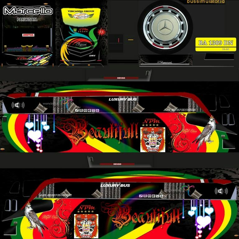 Discover The Coolest Npm Mix Livery Bls Sakato Bussid Indonesia Raunraun Jo Images In 2020 Bus Games Luxury Bus New Bus