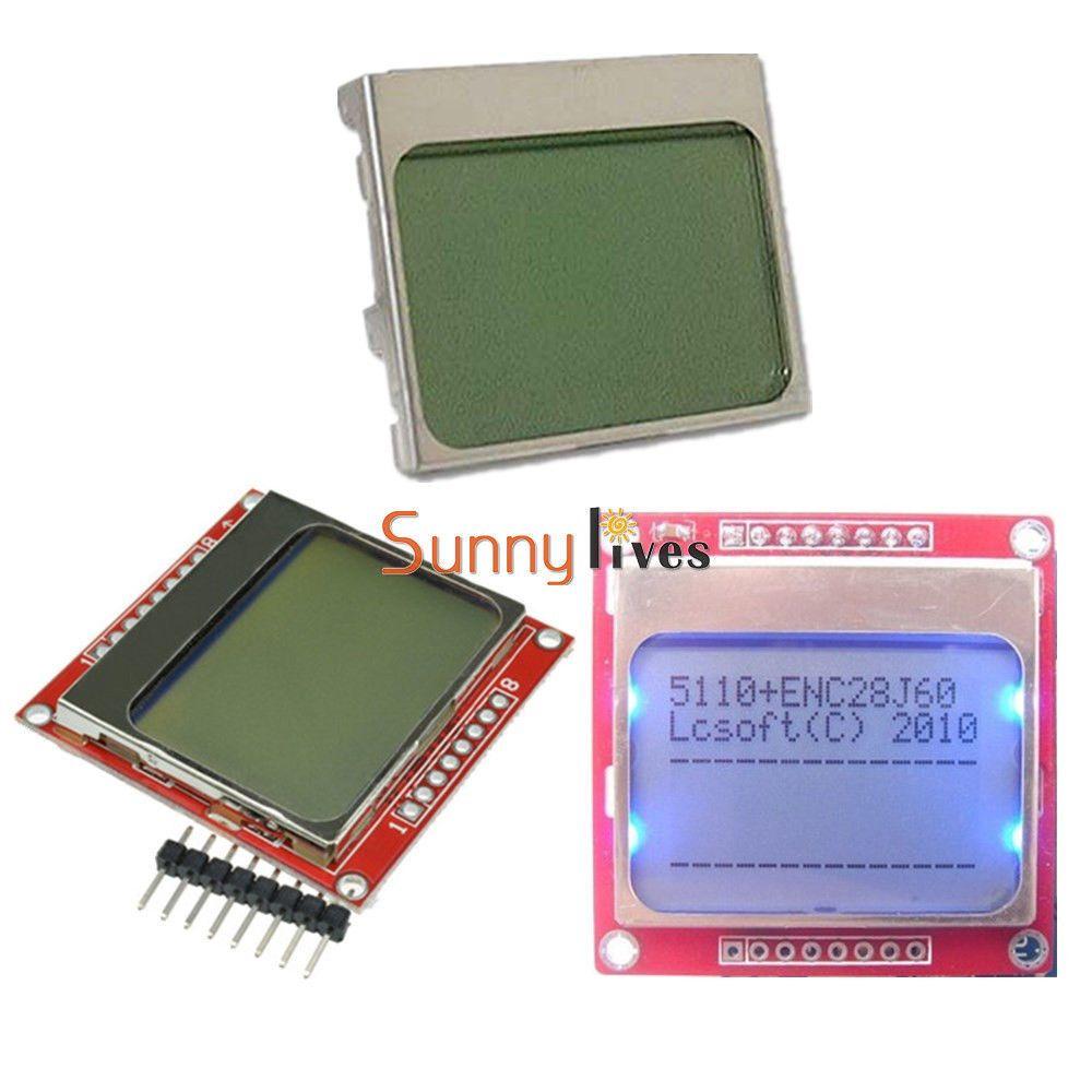 White//Blue 84*48 Nokia 5110 LCD Display Screen Modul Module for Arduino DIY
