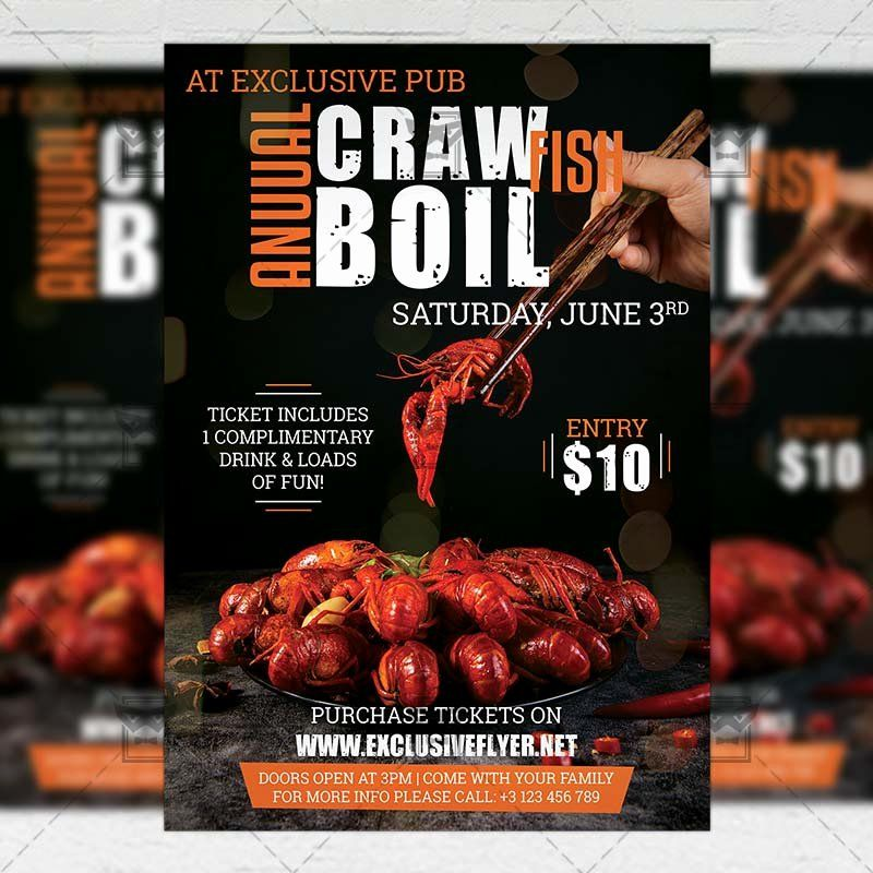 Crawfish Boil Flyer Template Free Beautiful Crawfish Boil