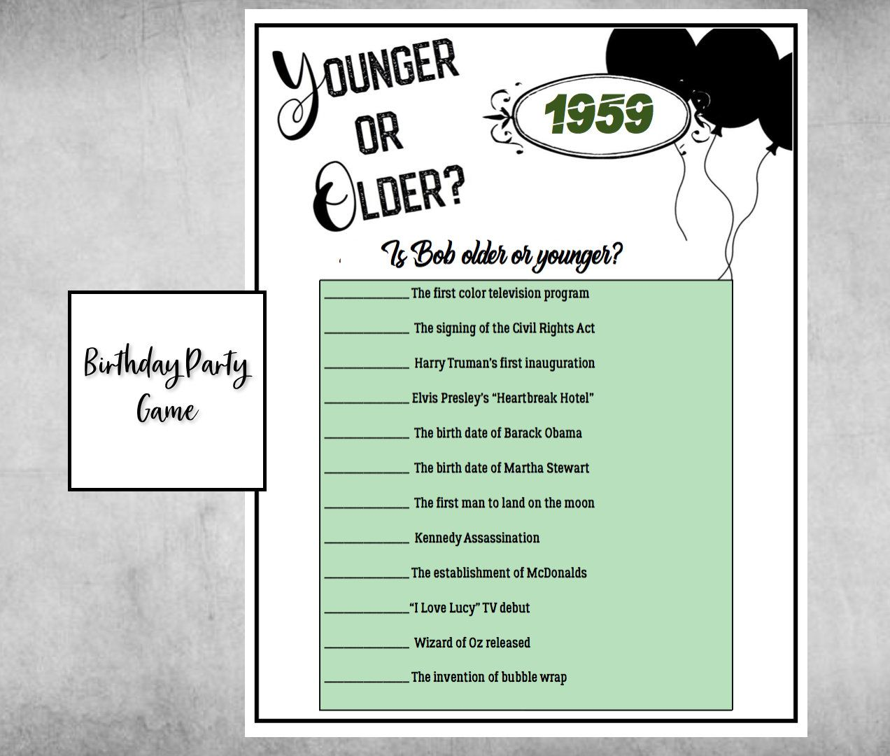 This Item Is Unavailable Etsy 50th Birthday Party Games Birthday Games 60th Birthday Party