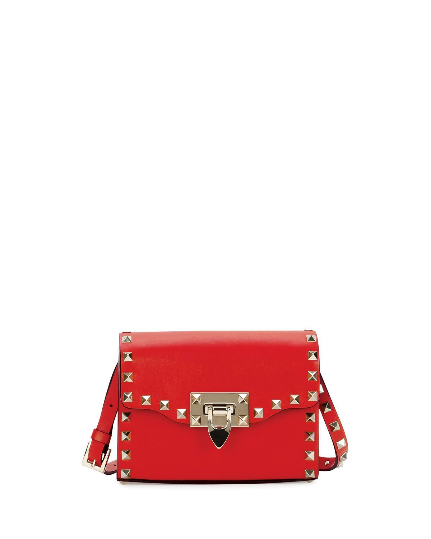 Rockstud Mini Leather Flap Shoulder Bag
