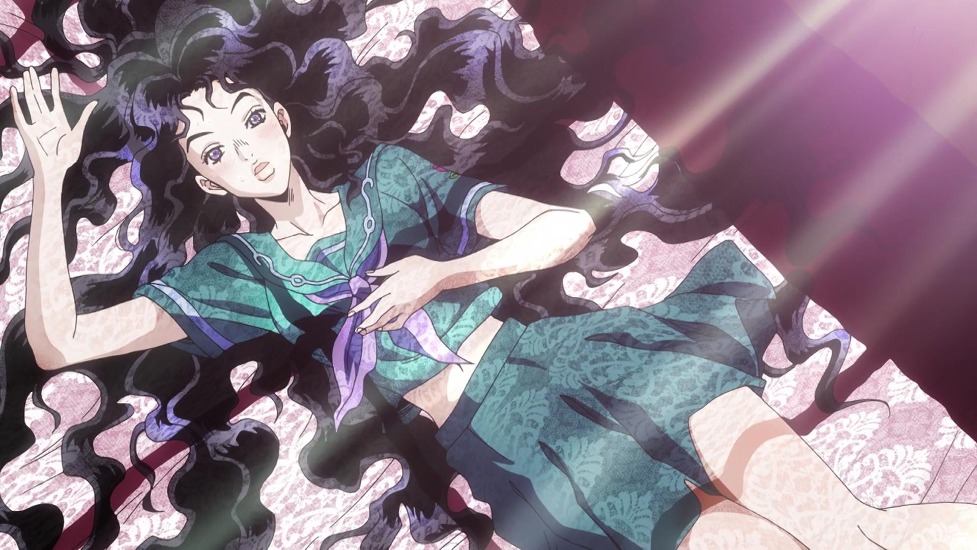 Yukako Lays Down Jojo S Bizarre Adventure Jojo Bizarre Jojo Anime Jojo S Bizarre Adventure