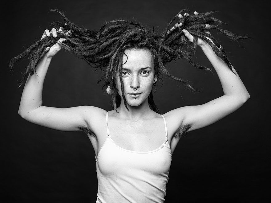 hair natural Hairy women