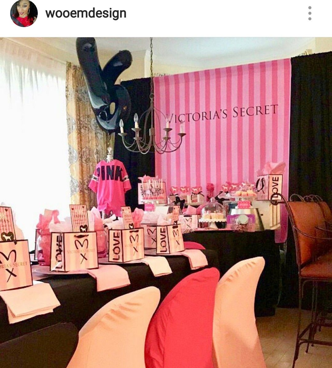 Victoria Secert Theme Party Pink Birthday Party Pink Party Theme Pink Birthday Party Decorations