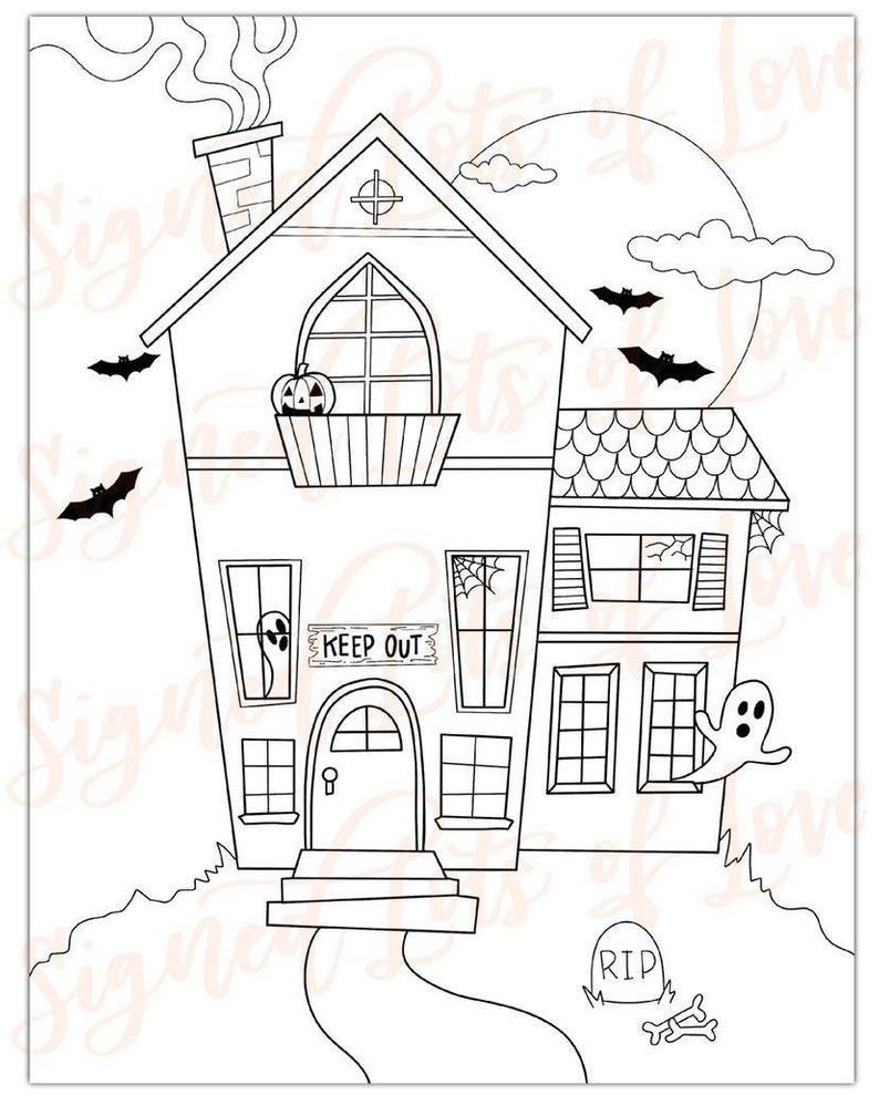 Digital Halloween Coloring Pages Printable Etsy Halloween Coloring Pages Printable Halloween Coloring Pages Free Halloween Coloring Pages