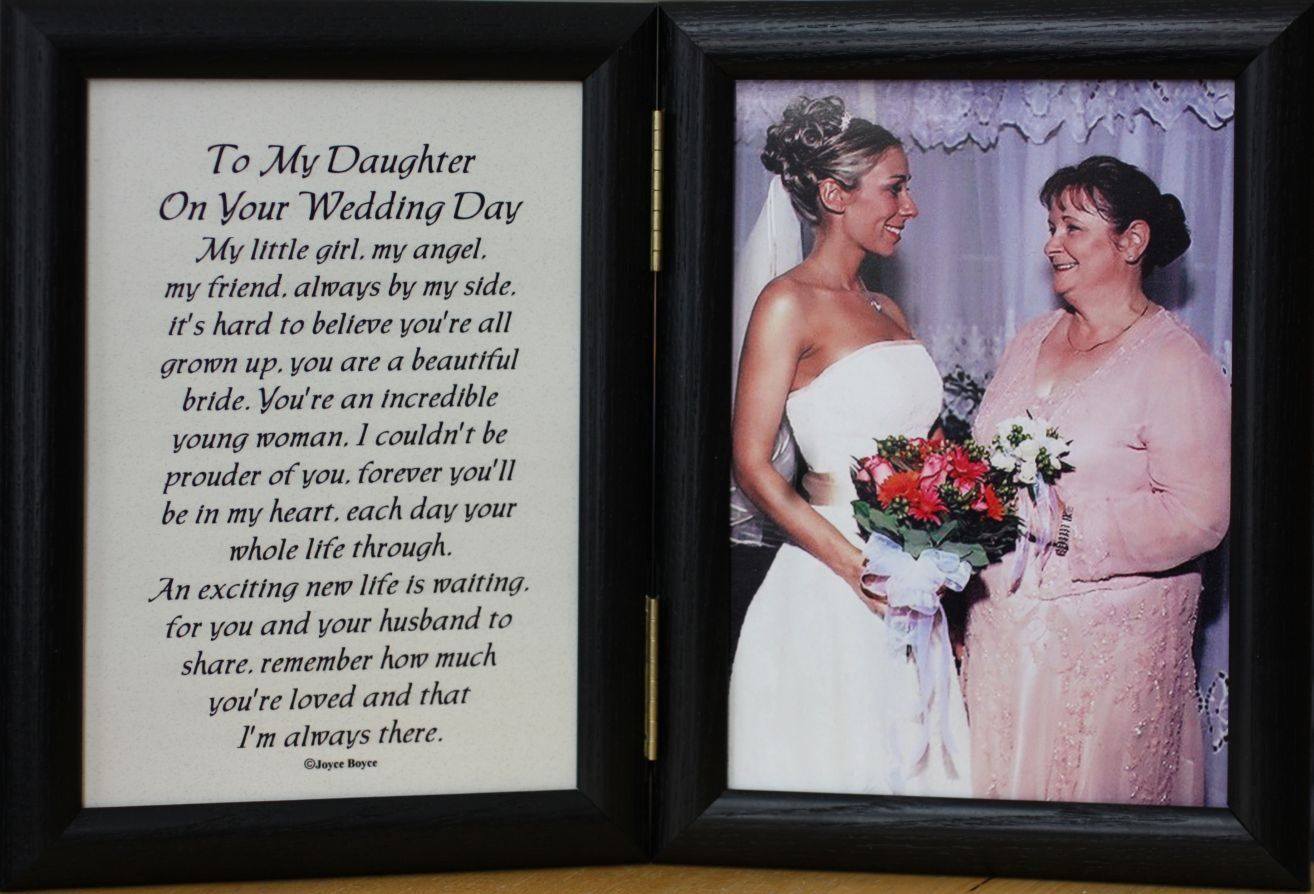 Gifts For Your Bride On Her Wedding Day: 5x7 Hinged TO MY DAUGHTER ON YOUR WEDDING DAY Poem