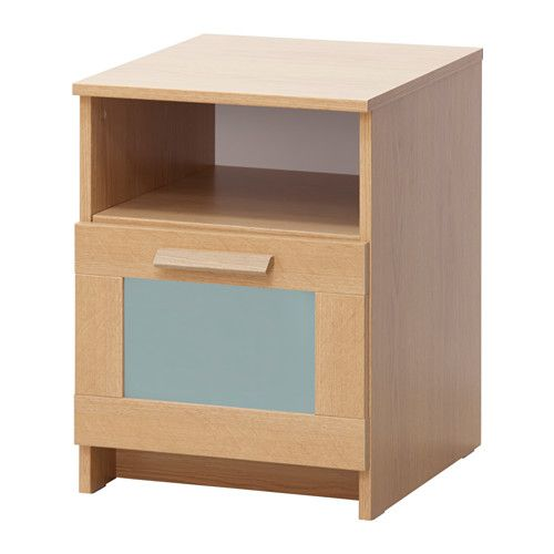 Brimnes Bedside Table Ikea In The Drawer There Is Room For An Extension Socket Your