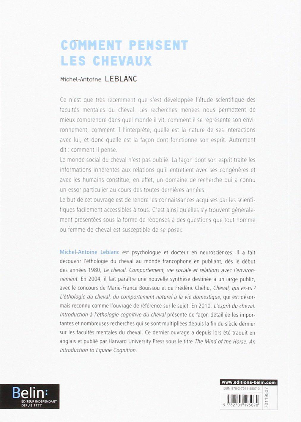 Amazon.fr - Comment pensent les chevaux - Michel-Antoine ...