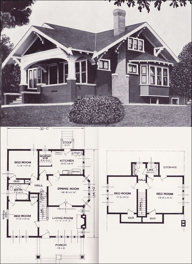 The Varina 1920s Bungalow 1923 Craftsman style from the Standard Homes pany House Plans of the 1920s