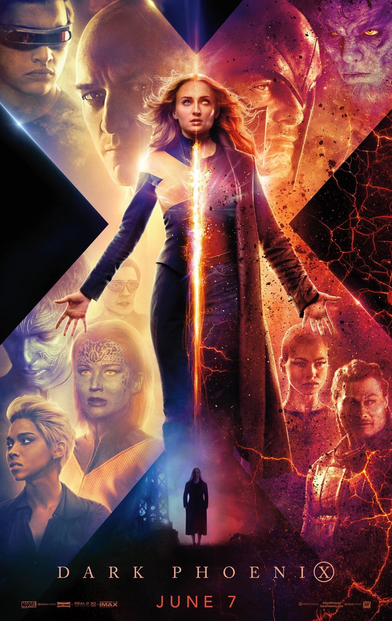 New Movie Poster From X Men Dark Phoenix Dark Phoenix Jean Grey X Men