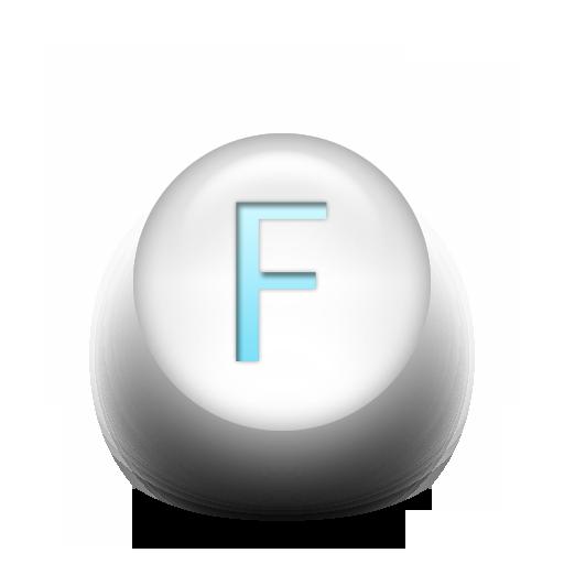 Capital Letter F Icon 074548 Icons Etc Letter F Lettering White Light