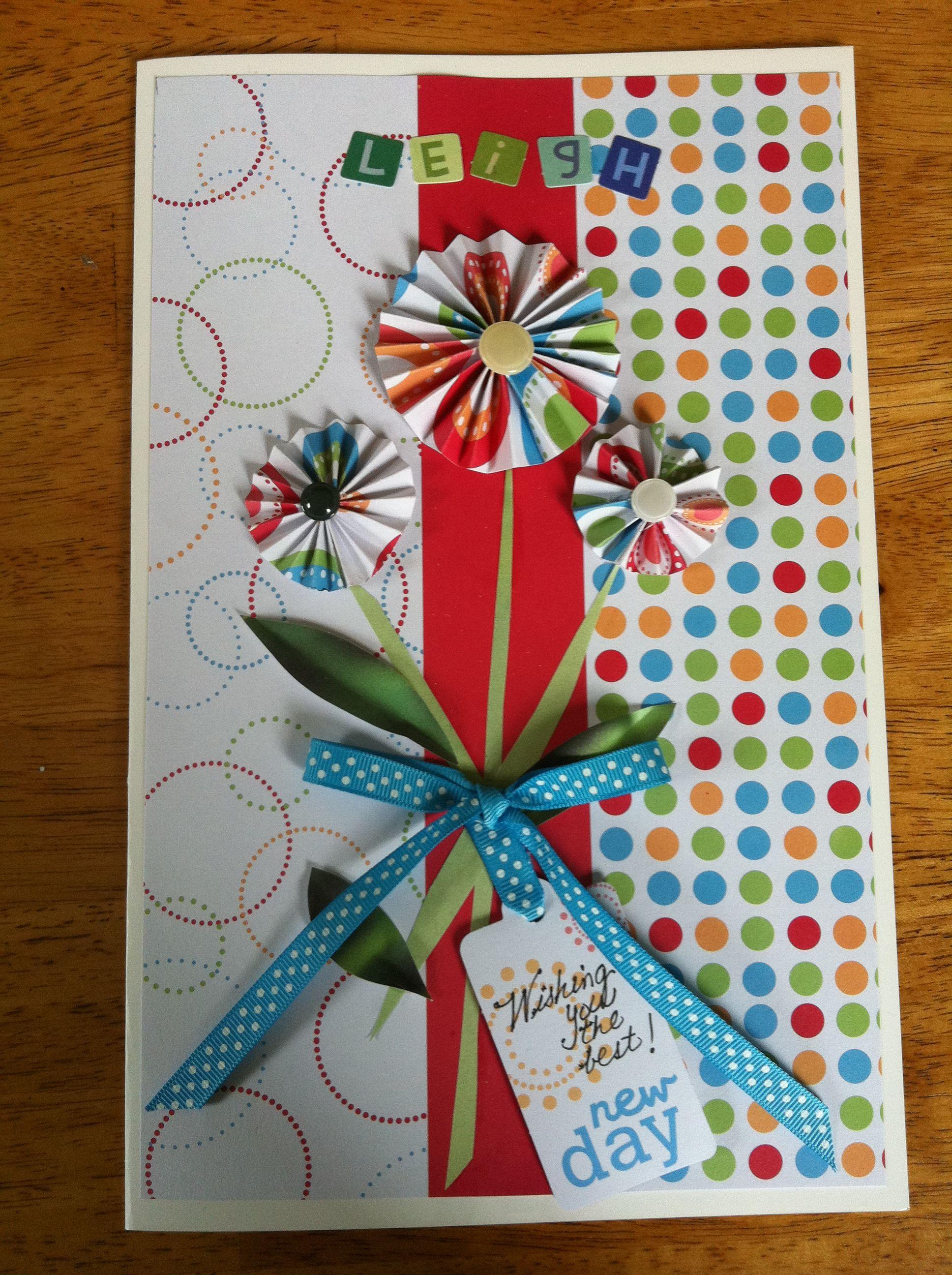 Scrapbook ideas goodbye - Farewell Card