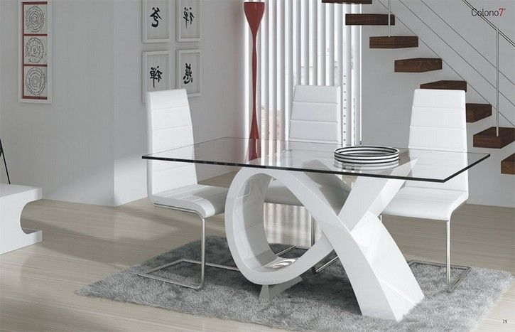 Adornos minimalistas para comedor buscar con google for Mesas de comedor de vidrio modernas