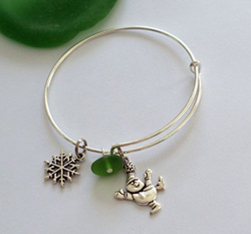 Beach Holiday Sea and Glass Bracelet, $20.00