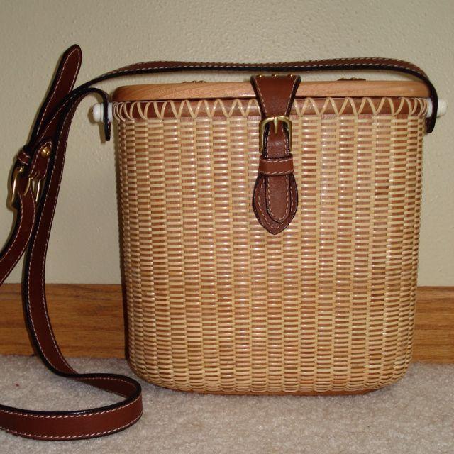 Handmade Nantucket Basket : Wood top purse nantucket baskets handmade by yours