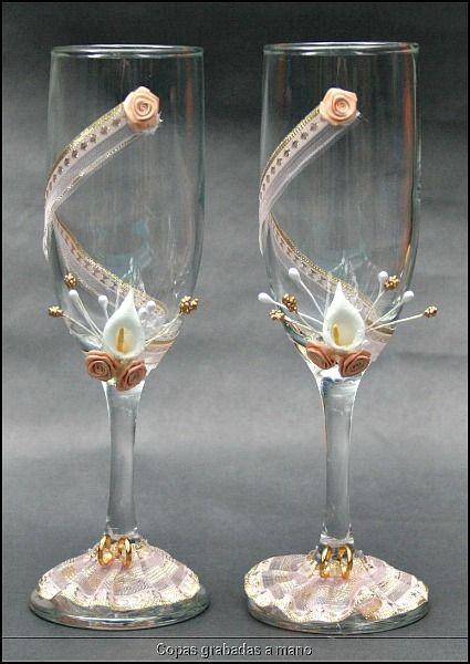 Copas de boda decoradas buscar con google decoraciones for Copas de champagne