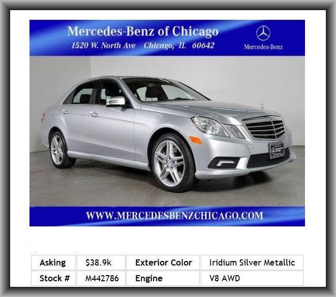 2011 MercedesBenz EClass E550 4MATIC Luxury Sedan