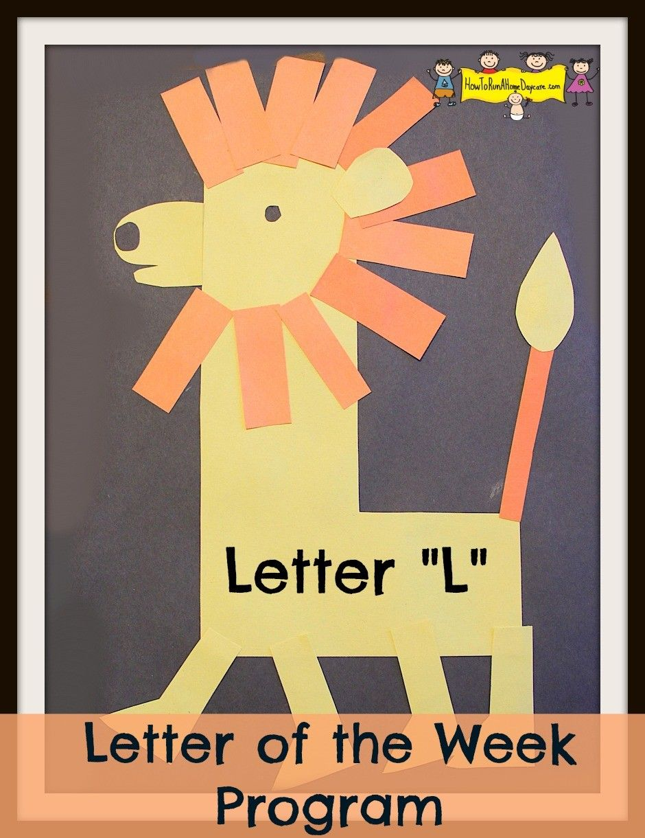 Letter L Lion Craft Template You Will Never Believe These