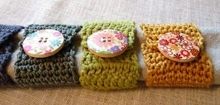 Really cute napkin rings - knit or crochet.