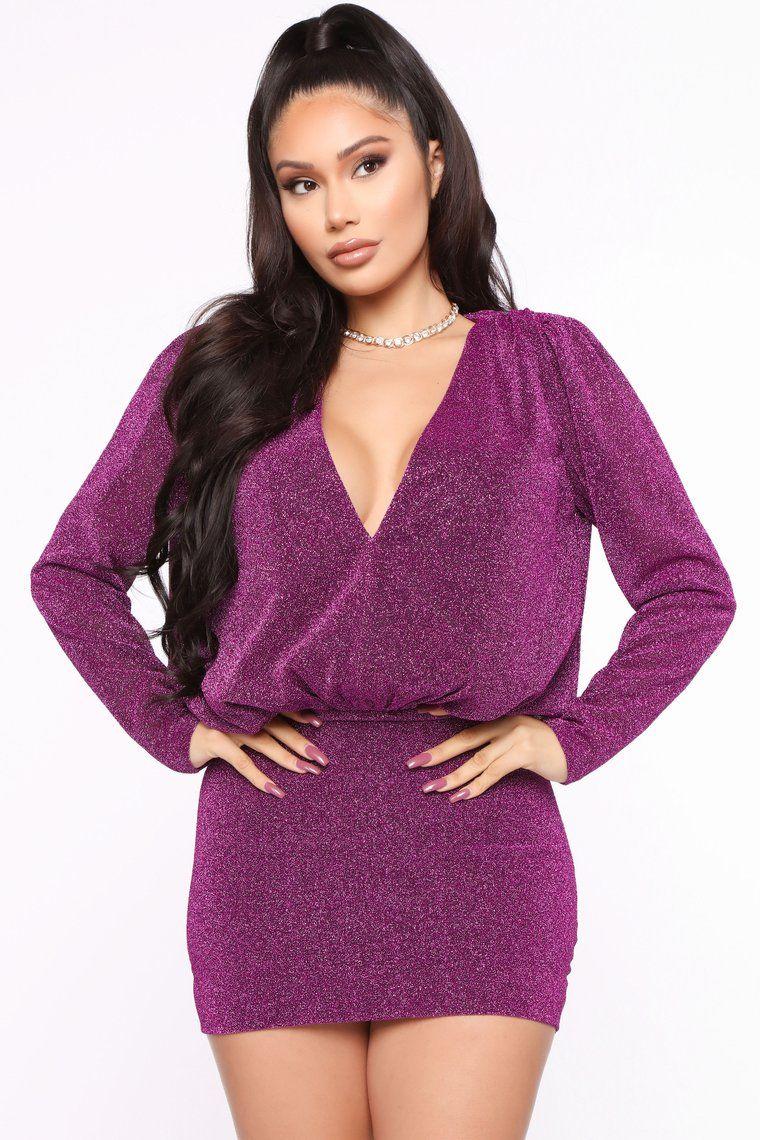 Sparkle Time Mini Dress Purple Mini Dress Purple Mini Dresses Mini Dress Clubwear [ 1140 x 760 Pixel ]