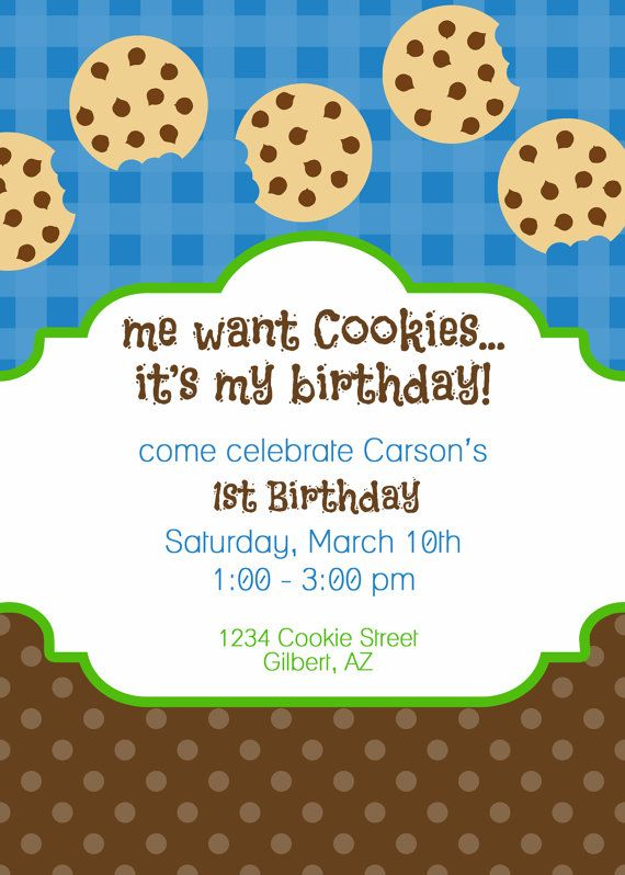 cookie invite Party Ideas Pinterest Cookie monster party - fresh birthday party invitation designs