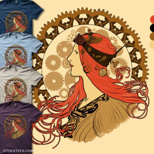Steampunk Zodiac, in the style of Mucha.  How cool is that?!