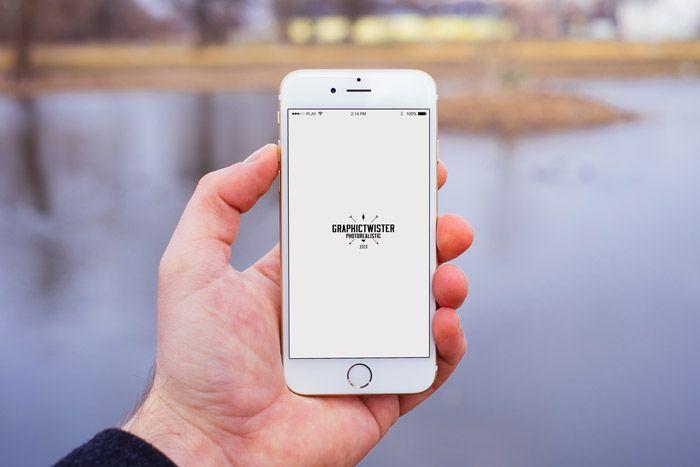 Download Man Hand Iphone 6 Mockup Front Iphone Mockup Photoshop Mockup