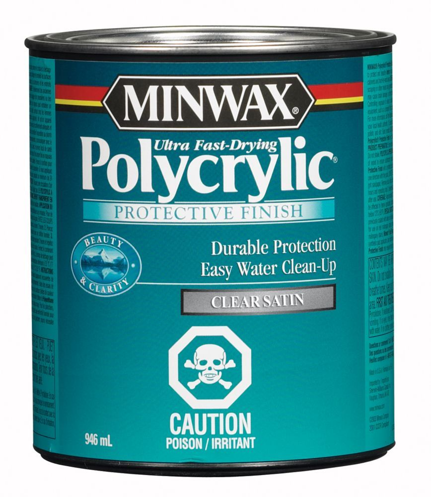 Minwax Polycrylic Protective Finish is a crystal clear