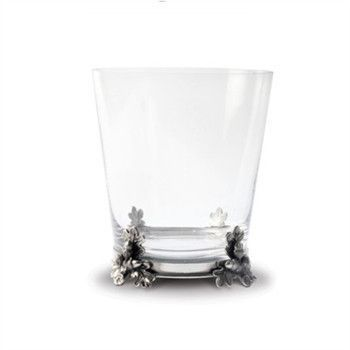 Acorn & Oak Leaf Glass Ice Bucket