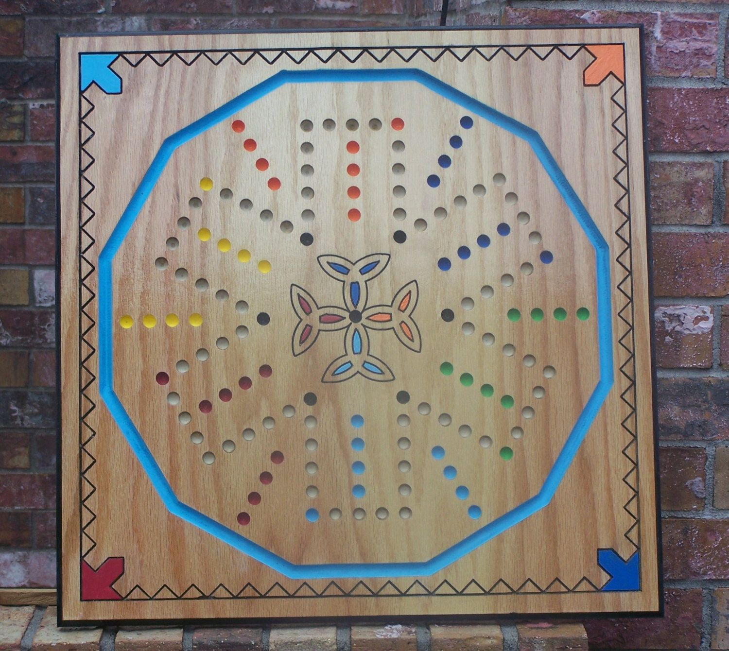 New aggravation type board game w celtic cross with for Chinese checkers board template