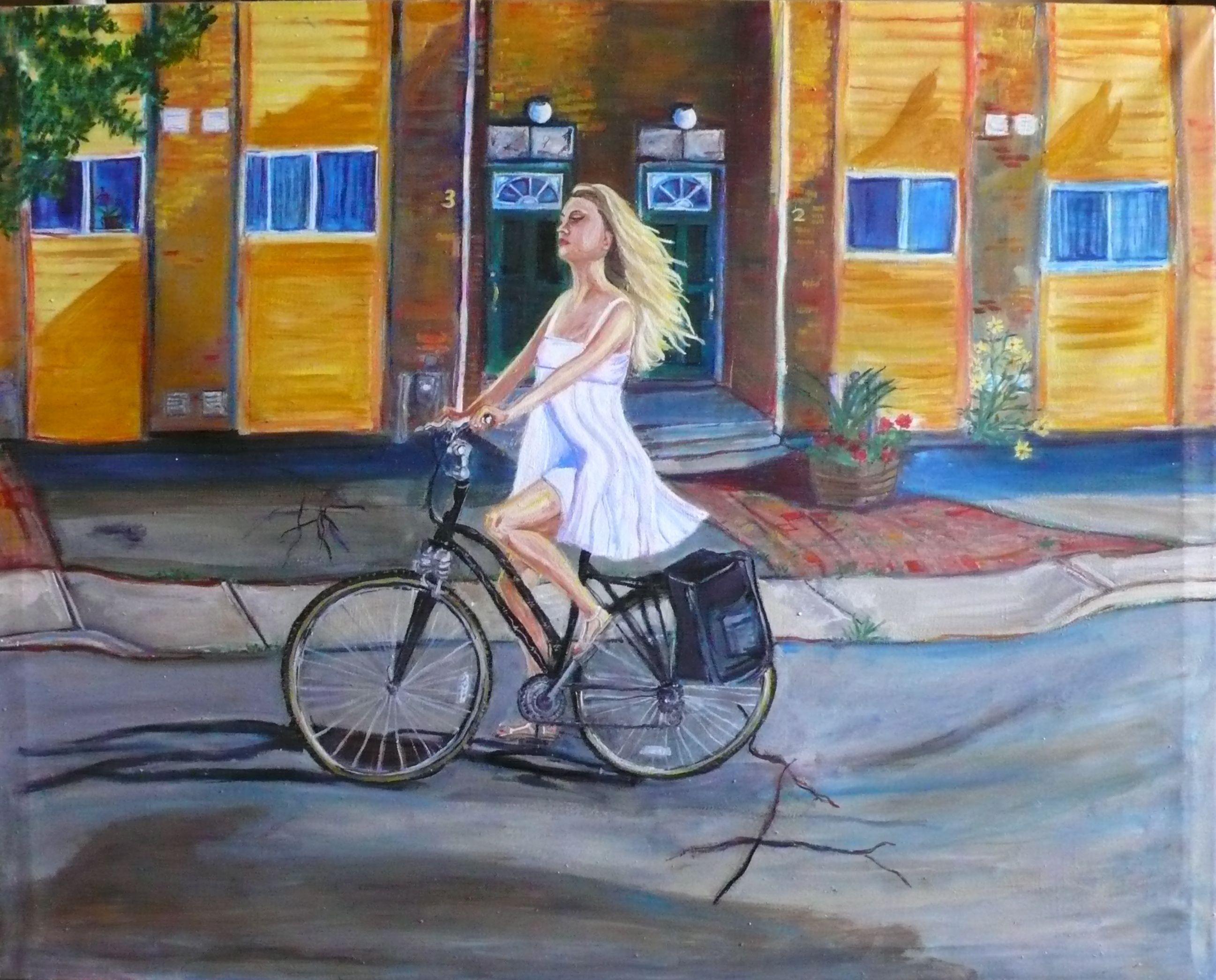 Erica Riding her Bike I
