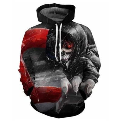 Classic anime Tokyo Ghoul 3d Hoodies Spring Autumn New