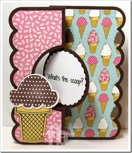 Love Nicole Clear Stamp /& Die Set Ice Cream Cone What/'s The Scoop Phrase Sayings