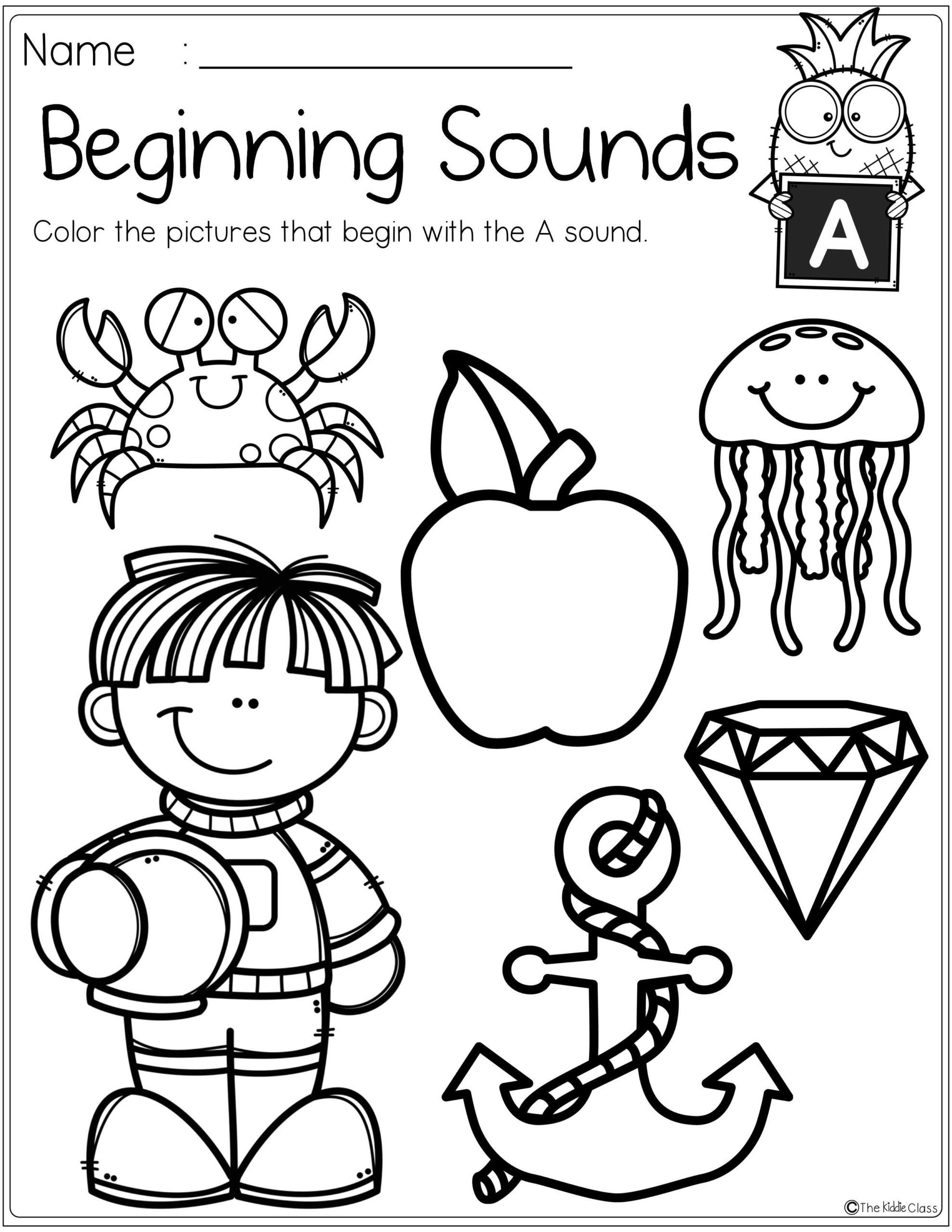 Letter Worksheets Beginning Sounds Worksheets For