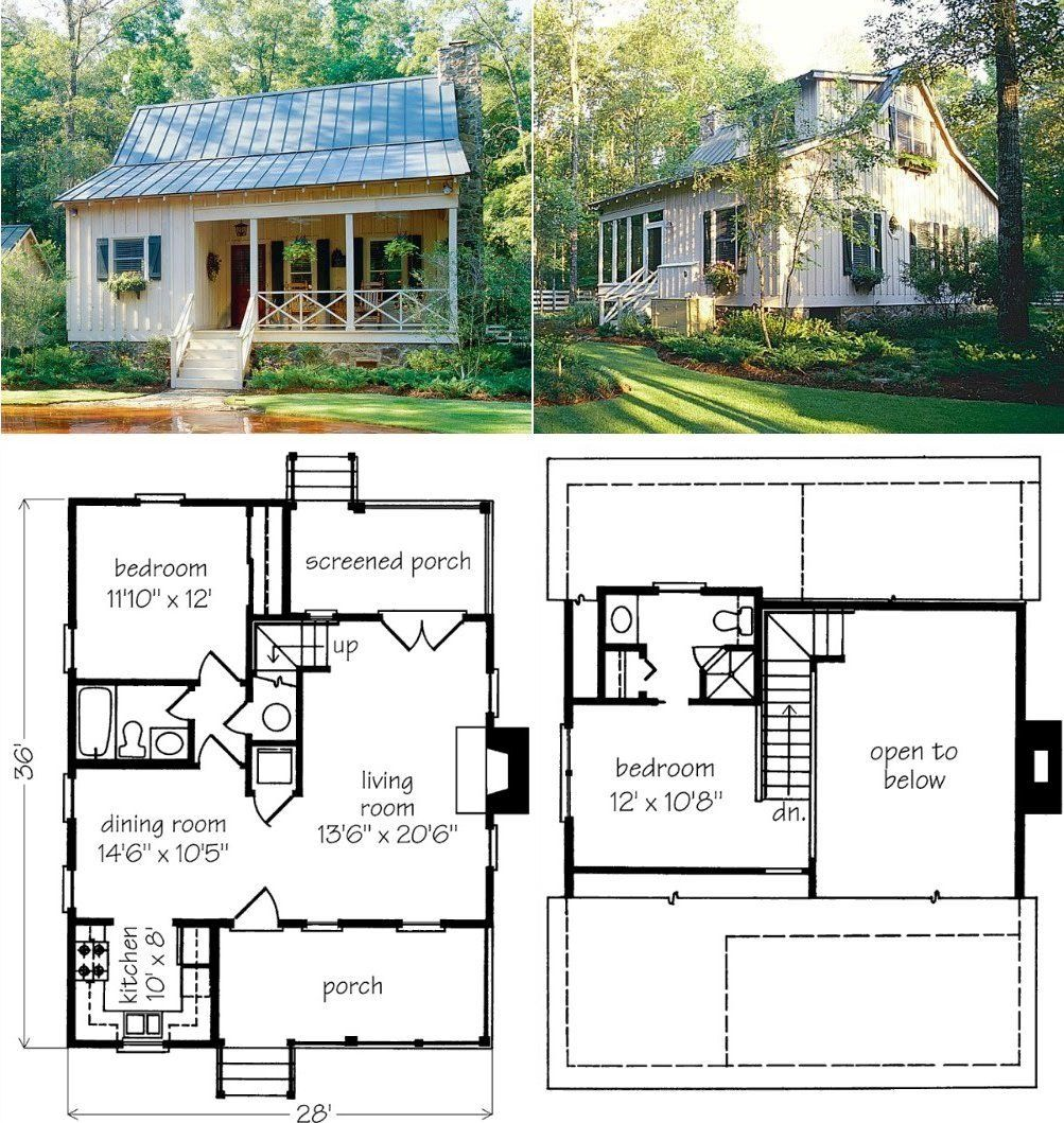 Pin By Tabitha Dente On Homes Tiny Farmhouse Tiny House Plans Cottage Plan