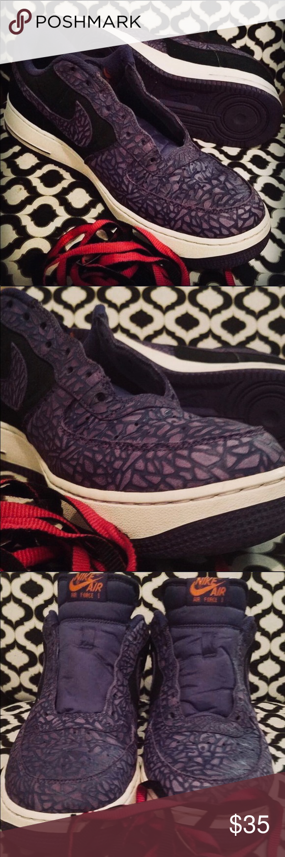 """outlet store 573b1 a0364 Used Nike Air Force 1 LE """"Godzilla Pack"""" sneakers Mens size 13US Nike Air  Force 1 LE """"Godzilla Pack"""" sneakers. Black Court Purple."""