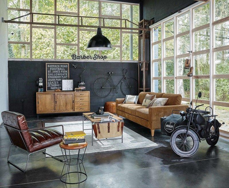 canap 4 places holden en velours c tel marron en 2019. Black Bedroom Furniture Sets. Home Design Ideas