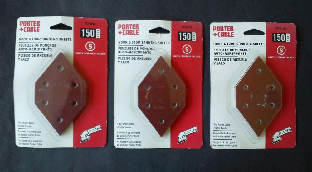 3 Packs PorterCable Hook & Loop Diamond Shape Sanding