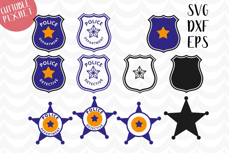 Police badge svg, dxf, eps, police badge star svg, dxf